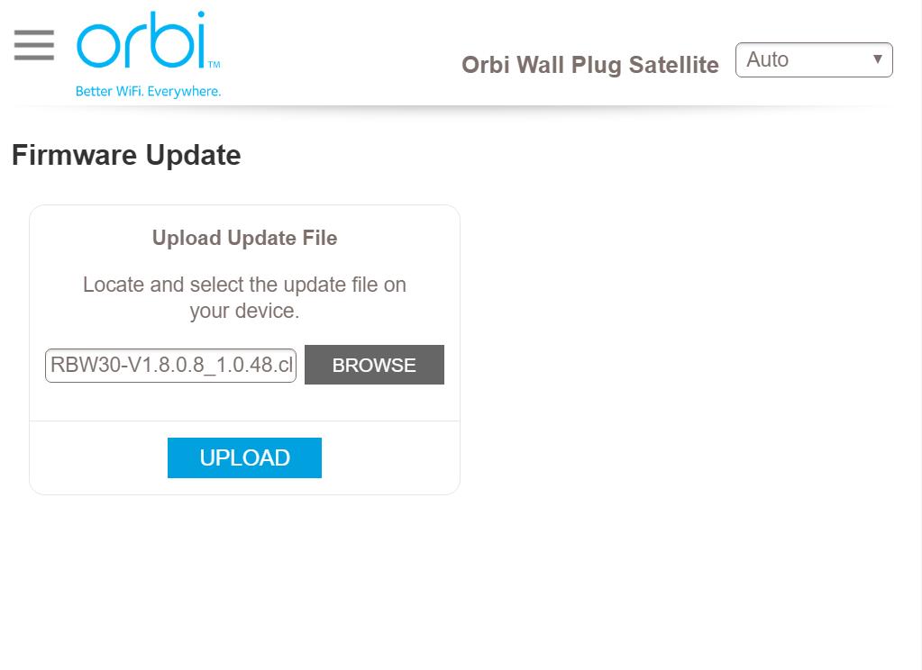 RBW30 Firmware Version 2 1 2 6 | Answer | NETGEAR Support
