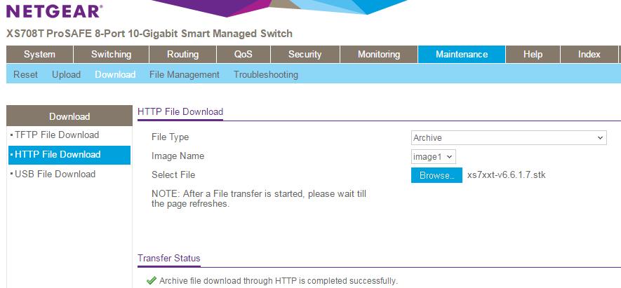 XS708T / XS716T Firmware Version 6 6 1 7 | Answer | NETGEAR Support