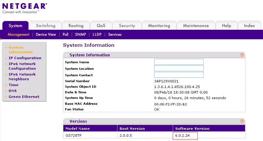 GS728TP/GS728TPP/GS752TP Firmware Version 6 0 1 24 | Answer