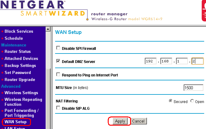 enabling dmz server on netgear home routers answer netgear support rh kb netgear com Netgear Model WNR1000 Netgear Model WNR1000