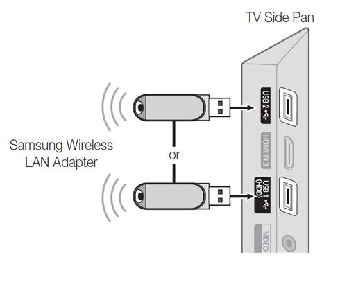 How do I connect my Samsung TV to my wireless network