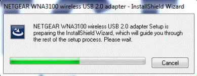 Connecting to the internet using the WNA3100 USB wireless