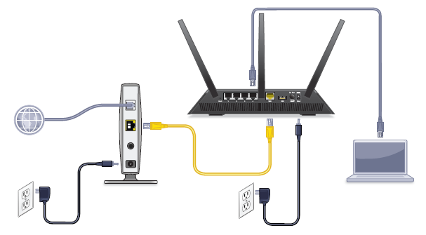 how to configure your netgear router for cable internet connection rh kb netgear com Cable Modem Connection Diagram Cable Modem Wireless Router Diagram