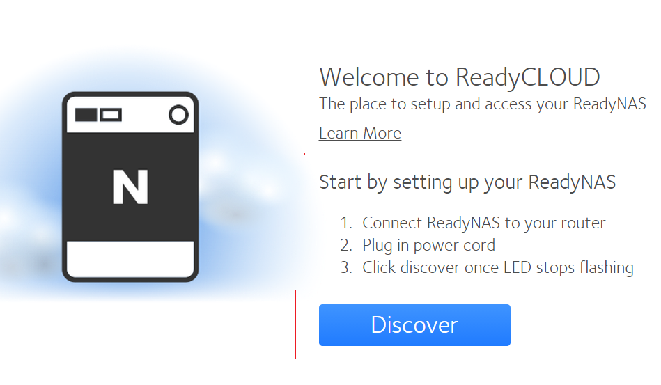 How do I discover and set-up my ReadyNAS OS 6 storage system