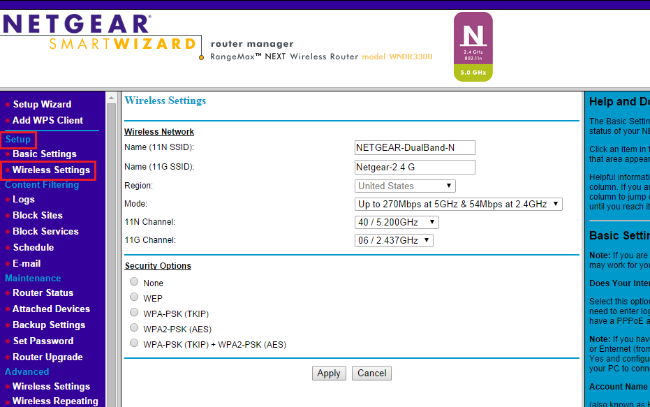 Smart Wizard - How to change your NETGEAR router WiFi password or