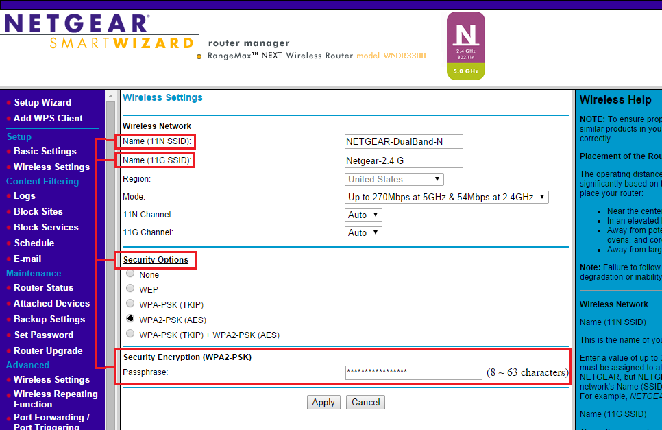 Smart Wizard - How to change your NETGEAR router WiFi