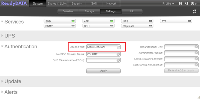 How do I configure the Active Directory settings on my
