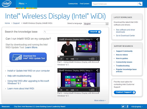Intel widi software informer. Intel widi (wireless display) lets.