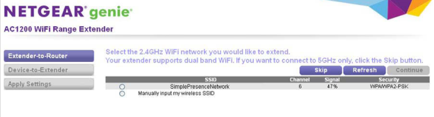 How to configure the EX6200 to your WiFi router using an