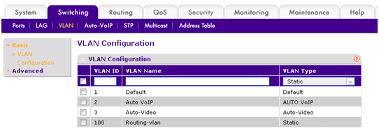 How do i configure vlan routing on a smart switch answer select switchingvlanbasic vlan configuration greentooth Choice Image
