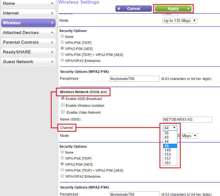 NETGEAR Range Extender is not detecting the 5GHz wireless