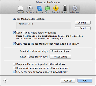 Using ReadyNAS OS 6 and iTunes Service on Mac OS X | Answer
