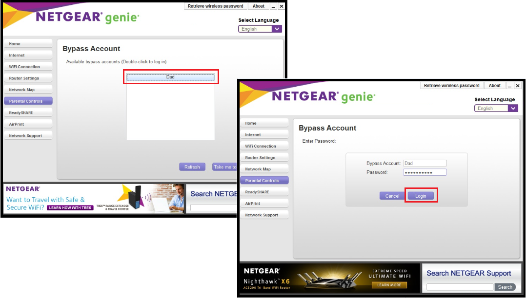How do I configure Live Parental Controls on my NETGEAR router