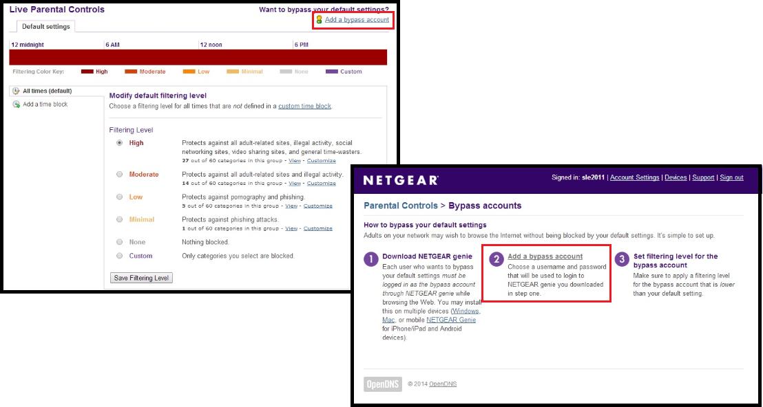 How do I configure Live Parental Controls on my NETGEAR
