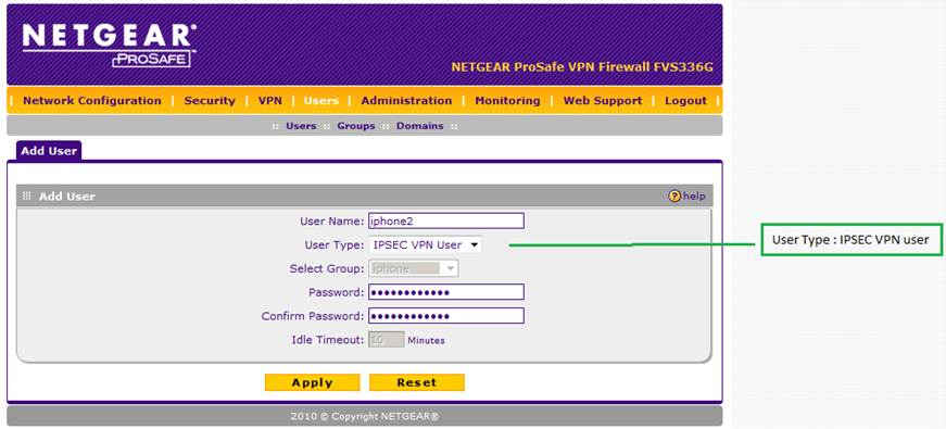 How to Setup VPN with NETGEAR Firewall and iPhone / iPad