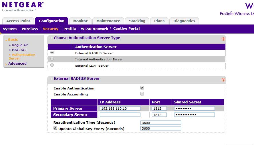 Validating identity wireless netgear n600