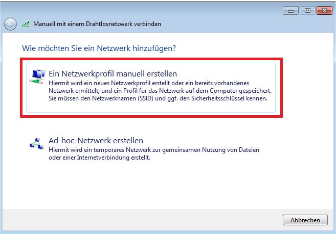 Super Wie füge ich manuell ein drahtloses Netzwerk unter Windows 7 und RX69