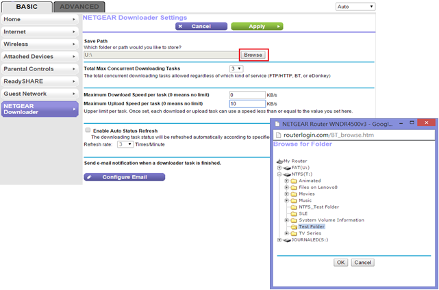 How to configure the NETGEAR Downloader feature | Answer
