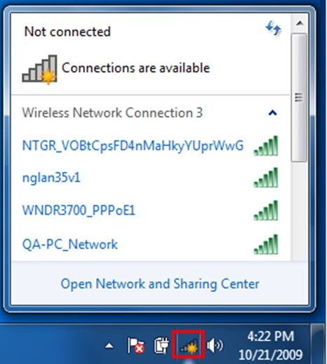 How to connect wirelessly using Security Key/Passphrase
