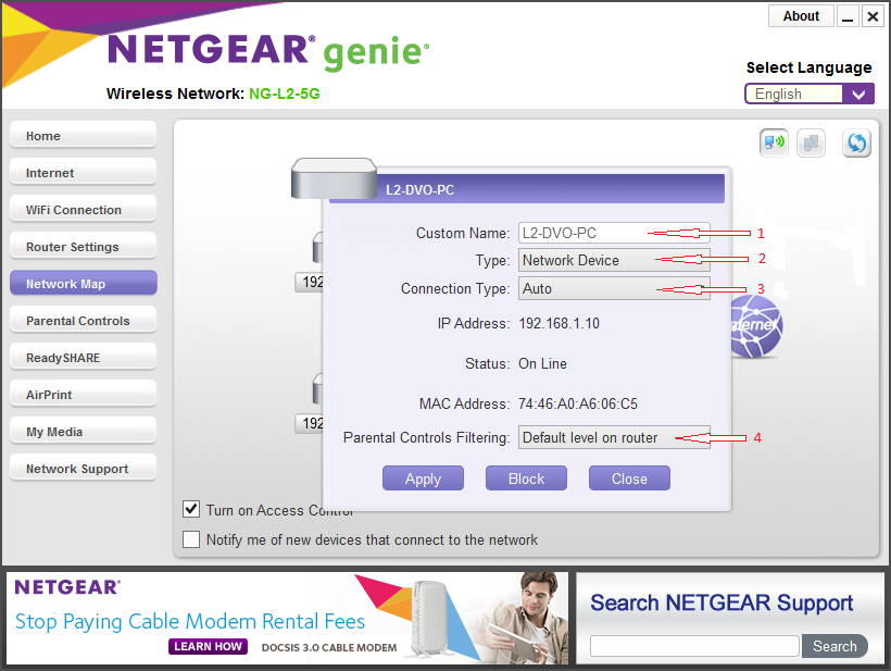 How To Customize Device Icons In The Genie Network Map Answer - Network map page
