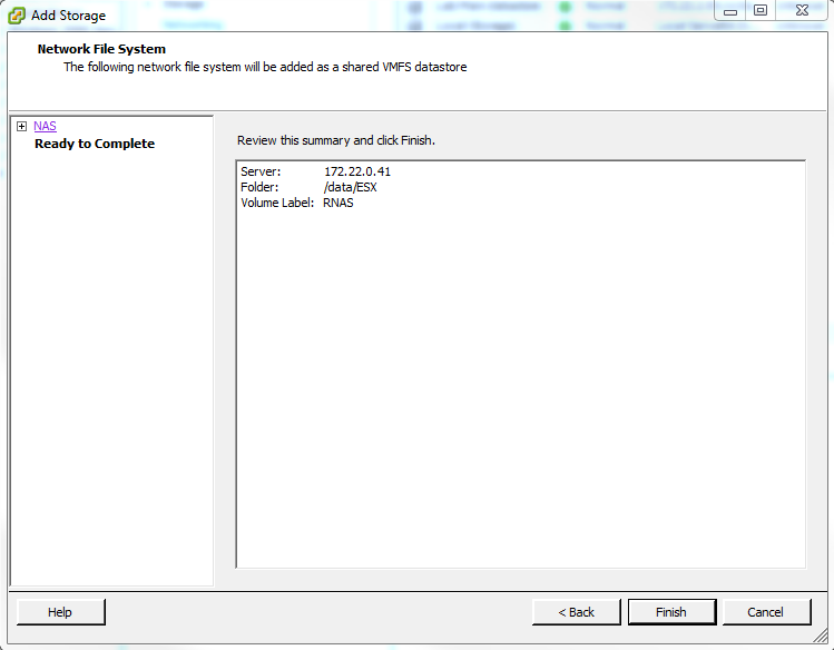 Using ReadyNAS OS 6 as a VMware ESX Datastore (NFS) | Answer