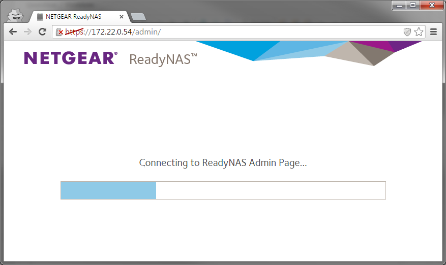 ReadyNAS OS 6 - ReadyNAS admin page is offline error after