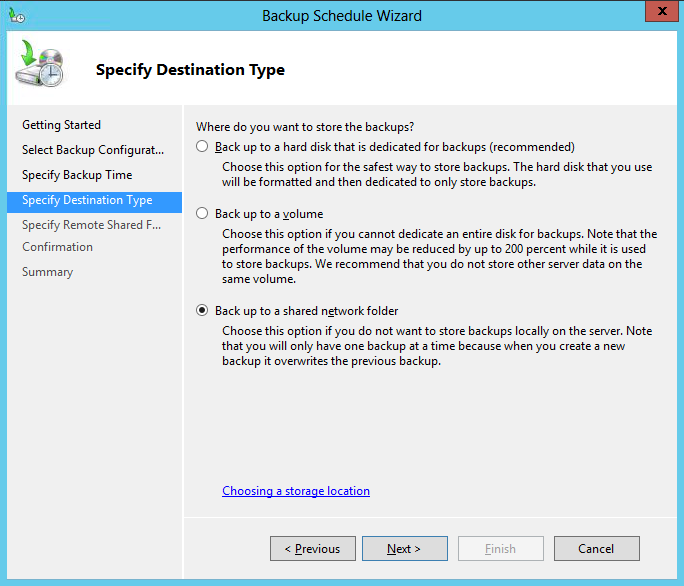 How do I back up data from a Windows Server to an SMB share