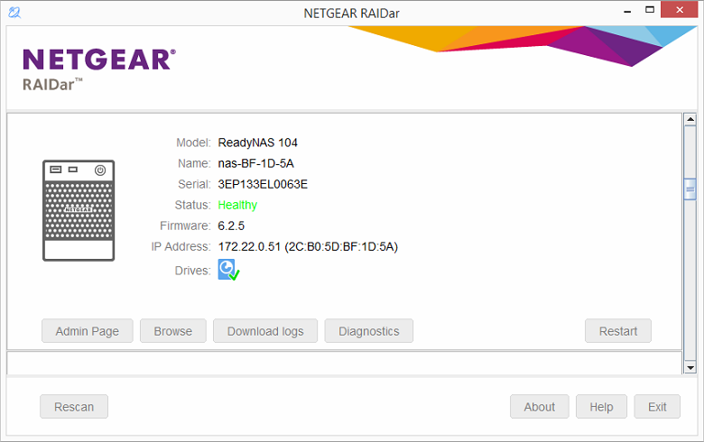 NETGEAR RN10222D NAS Driver Windows 7