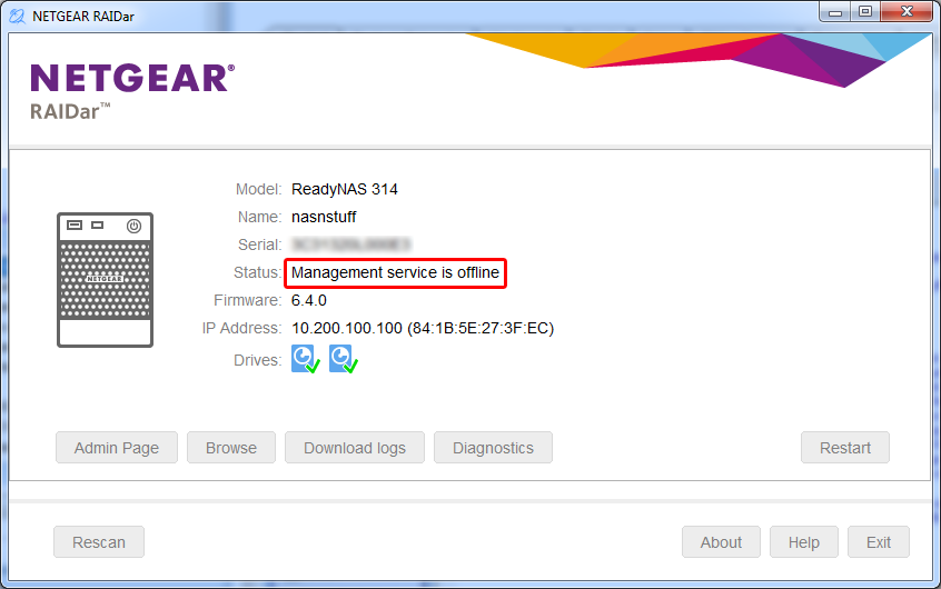 NETGEAR RN10443D NAS Driver Download