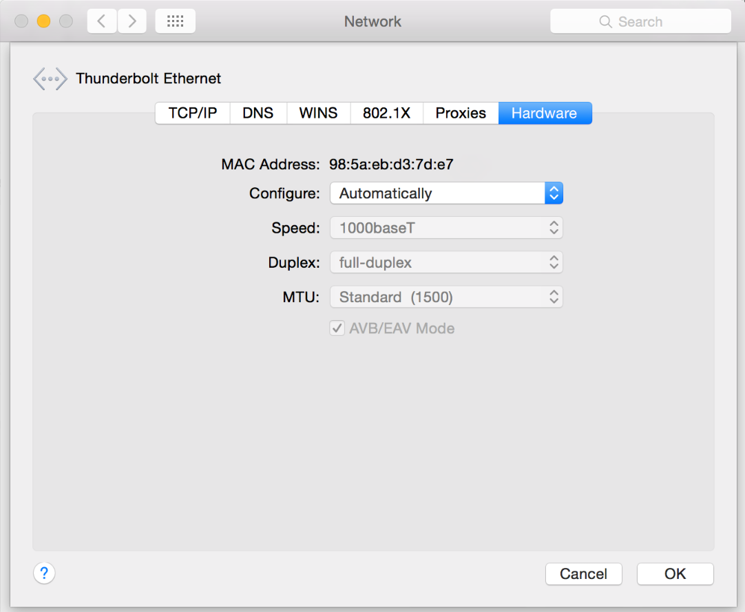 connecting mac to router via ethernet