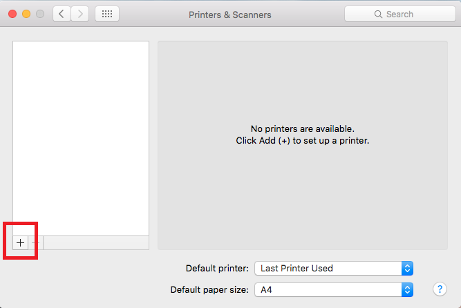 How to configure a network printer using Bonjour in Mac OS X