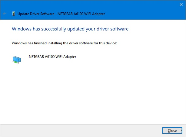 How to manually update the driver of NETGEAR Adapters
