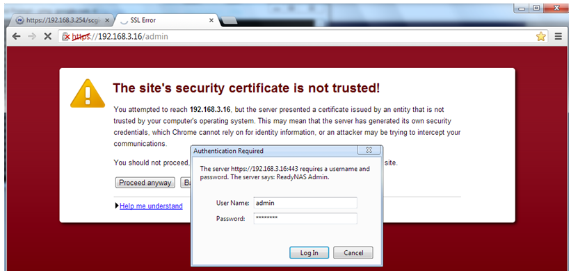Installing a Certificate on Google Chrome for ReadyNAS OS 6