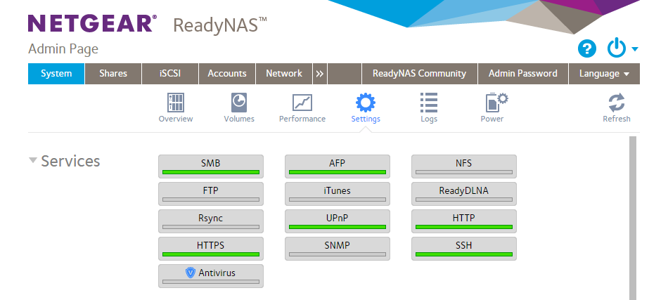 ReadyNAS OS 6: File sharing protocols supported   Answer