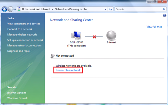 Configuring your wireless connection using Windows Vista Wireless