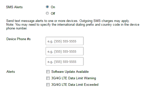 How to configure SMS alerts on 4G LTE Modem | Answer | NETGEAR Support
