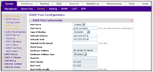 How do i configure a dynamic host configuration protocol for Cisco show pool dhcp