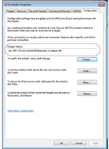 How do I configure an iSCSI initiator on my ReadyNAS OS 6