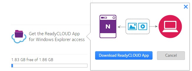 How do I remotely access files using the ReadyCLOUD app for