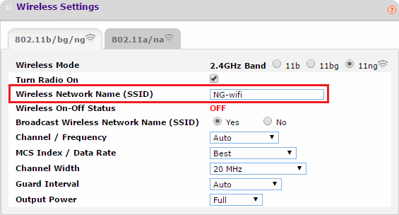ssid broadcasting from my router