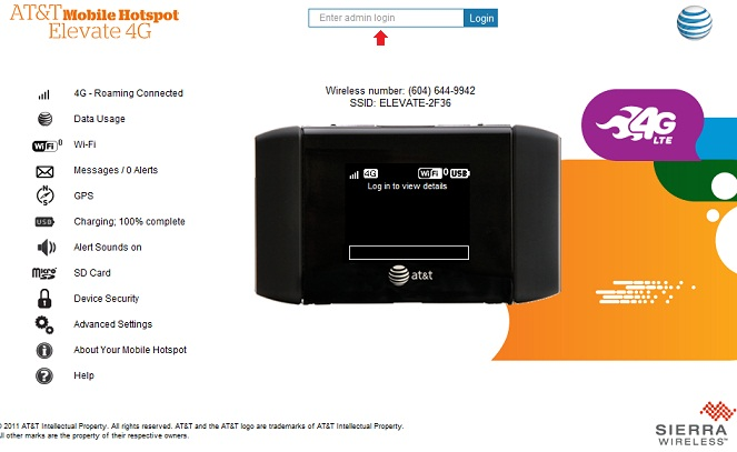 How do I access the AT&T Mobile Hotspot Elevate (AirCard