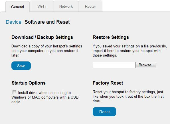 How do I reset the AT&T Unite Mobile Hotspot to factory