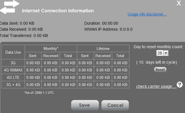 How do I manually set and reset Data Usage for Sprint 4G LTE Tri-Fi