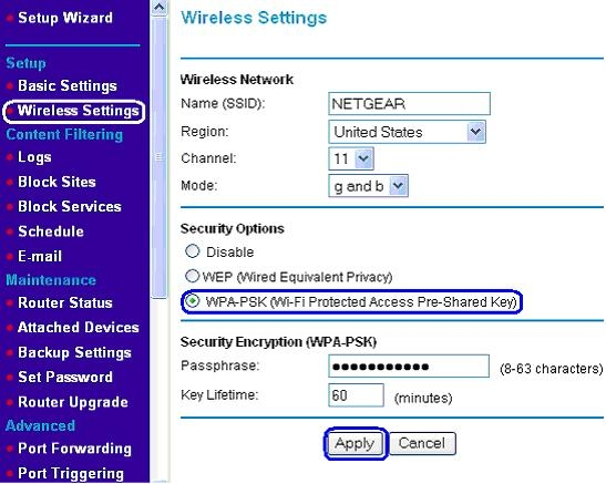 netgear wi fi modems how to change passwords