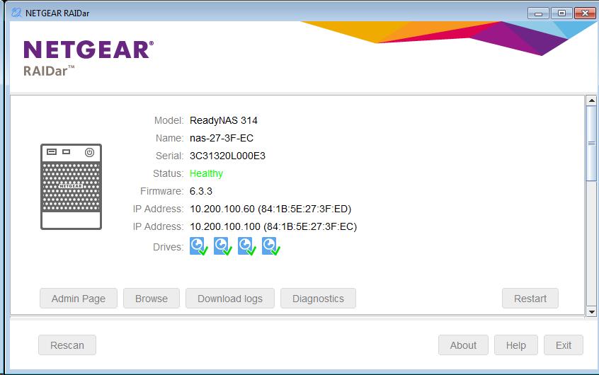 ReadyNAS: RAIDar 6 0 | Answer | NETGEAR Support