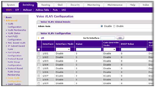 How do I configure voice VLAN and prioritize voice traffic