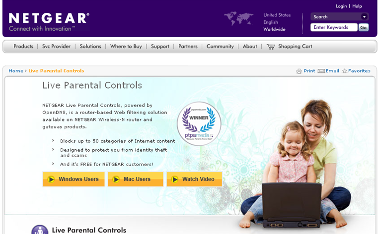 To set up Live Parental Controls: