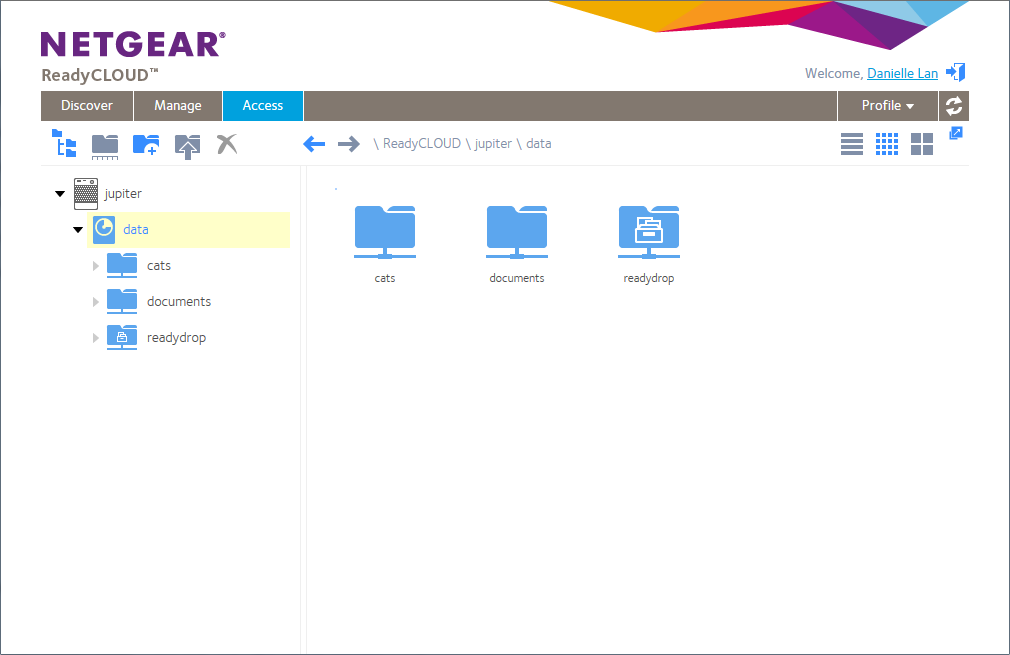 How do I access my ReadyNAS OS 6 storage system by using
