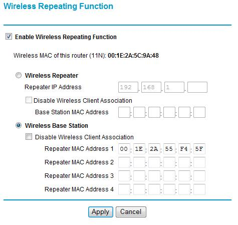 How To Set WDS (Repeater Function) on WNDR3300/WNR3500