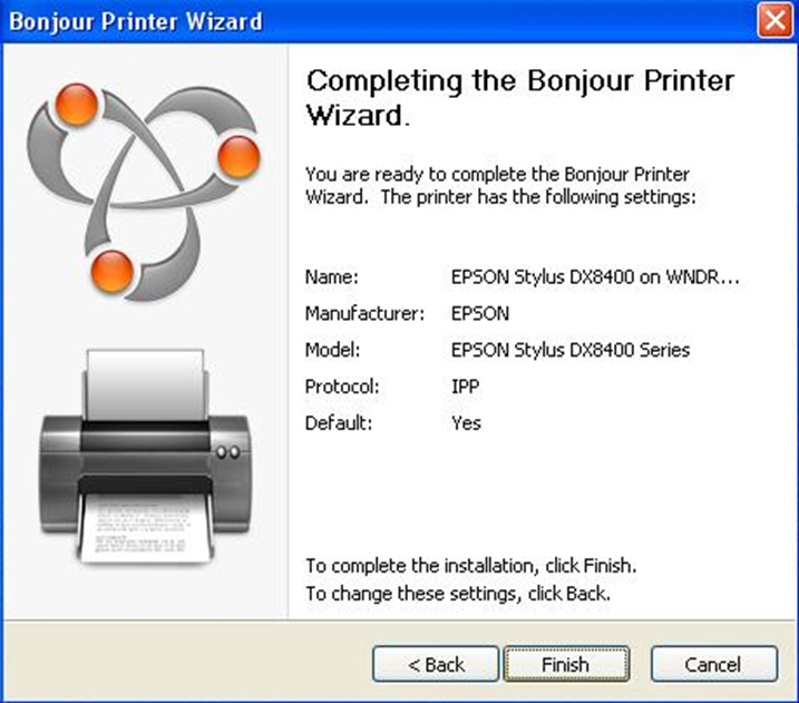 ReadySHARE and Bonjour Print Service for Windows | Answer